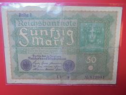 Reichsbanknote 50 MARK 1919 CIRCULER (B.1) - 50 Mark