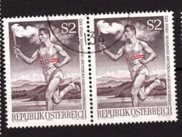 1972  Österreichischer Fackellauf, Österreich, 2er Streifen Gebraucht - Sommer 1972: München