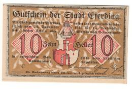 Austria Notgeld - EFERDING 10 HELLER 1919 - Oesterreich