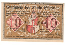 Austria Notgeld - EFERDING 10 HELLER 1919 - Austria