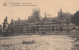 Postkaart/Carte Postale VILVOORDE Gare Et Statue - Statie En Standbeeld (Boessens-Brugge) (C572) - Vilvoorde