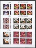 XX445 IMPERF 2003 S. TOME E PRINCIPE NATURE FLORA FLOWERS MARILYN MONROE 6SET MNH - Orchidées