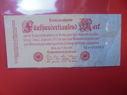 Reichsbanknote 500.000 MARK 1923 CIRCULER (B.1) - 1918-1933: Weimarer Republik