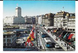Cpsm Lausanne - Le Grand Pont Et La Tour Bel-Air . - VD Vaud