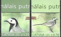 LATVIA, 2019, MNH, EUROPA, BIRDS, 2v - 2019