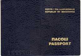 Passeport,passport, Pasaporte, Reisepass,Republic Of Macedonia,girl - Documents Historiques