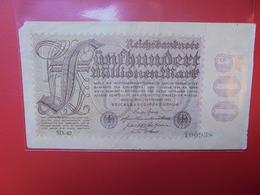 Reichsbanknote 500 MILLIONEN MARK 1923 CIRCULER (B.1) - [ 3] 1918-1933: Weimarrepubliek