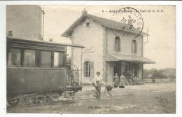 AIGNY (55) La Gare Du C. B. R. (3 Marques En Haut De La Carte ) - France