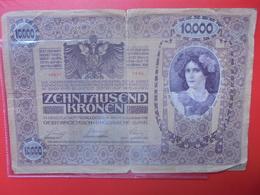 AUTRICHE 10.000 KRONEN 1918 CIRCULER (B.1) - Oesterreich