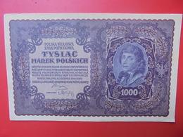 POLOGNE 1000 MAREK 1919 CIRCULER TRES BELLE QUALITE (B.1) - Polen