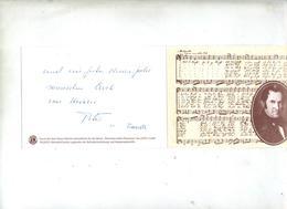 Carte Voeux Cachet Oberndorf  Gruber - Marcophilie - EMA (Empreintes Machines)