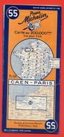 Ancienne Carte Routière MICHELIN N° 55 CAEN-PARIS 1943 - Cartes Routières