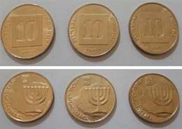 ISRAELE 10 AGOROT (3 Pezzi) - Israel