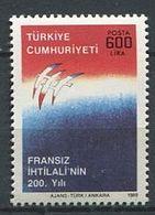 249 TURQUIE 1989 - Yvert 2609 - Revolution Francaise Philexfrance - Neuf ** (MNH) Sans Charniere - Nuovi