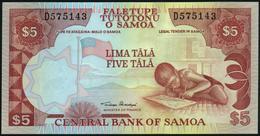 """SAMOA - 5 Tala Nd.(2002-2005) {signature Title: """"Minister Of Finance""""} UNC P.33 A - Samoa"""