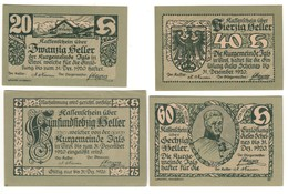 Austria Notgeld Lot / Set - IGLS X 4 - Oesterreich