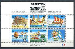 249 GUERNESEY 1992 - Yvert 575/79 - ASTERIX Operation Feuillet Francais - Neuf ** (MNH) Sans Charniere - Guernsey