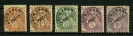 FRANCE   Préoblitérés  Type Blanc     N° Y&T  PREO39 à PREO43  (o) - 1893-1947