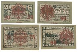 Austria Notgeld Lot / Set - IGLS OVERPRINT 3 AUFLAGE X 4 - Oesterreich
