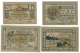 Austria Notgeld Lot / Set - IGLS OVERPRINT 5 AUFLAGE X 4 - Oesterreich