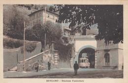 Lombardia - Bergamo - Stazione Funicolare -  Bella Animata Con Tram - Bergamo