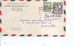 Vénézuéla ( Lettre De 1958 De Zulia Vers La France à Voir) - Venezuela