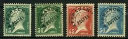 FRANCE   Préoblitéré  Type Semeuse Pasteur       N° Y&T  PREO65 à PREO68  (o) - 1893-1947