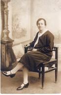Kabinettfoto Studiofoto - Frau Sitzend Auf Stuhl - Ca 1930-40 - Fotografie