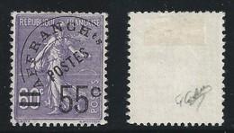 FRANCIA 1922 /51 - PREANNULLATI - N.° 47 Usato - 55 C. Su 60 C. - Cat. 70 € - Singolo - Firmato - L. 1616 - Preobliterati