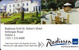 IRLANDA KEY HOTEL  Radisson SAS St. Helen's Hotel  - DUBLINO - Cartes D'hotel