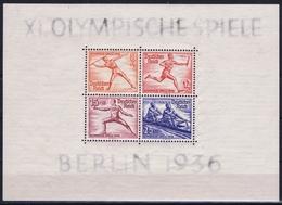 Deutsche Reich : Mi Block 5 + 6 MH/* Flz/ Charniere Olympische Spiele Berlin 1936 - Blocks & Kleinbögen
