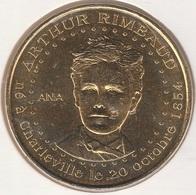 MONNAIE DE PARIS 08 SEDAN Arthur Rimbaud - ANA - 2012 - Monnaie De Paris