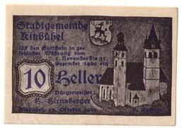 Austria Notgeld - KITZBUHEL 10 HELLER - Austria