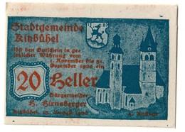 Austria Notgeld - KITZBUHEL 20 HELLER - Austria