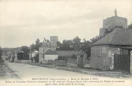 CPA 37 Indre Et Loire Montbazon Route De Bayonne à Paris Ruines Ancienne Forteresse Chocolat Menier - Montbazon