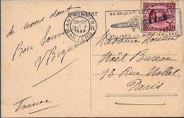 1932  BELGIO ANVERS  X PARIS POSTA AEREA BOLAFFI / SASSONE - Posta Aerea
