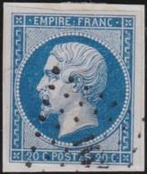 France  .   Yvert  .    14B  (II)       .     O      .    Oblitéré   .  /   .   Cancelled - 1853-1860 Napoleon III