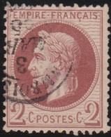 France  .   Yvert  .    26     .     O      .    Oblitéré   .  /   .   Cancelled - 1863-1870 Napoléon III. Laure