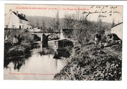 FRANCE / CPA / VILLENEUVE SUR BELLOT / LES BERGES DU PETIT MORIN / 1905 - Autres Communes