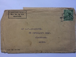 GB George V Cover With Triangular Inspection Mark - Cartas