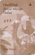EMIRATI ARABI  KEY HOTEL  One&Only Royal Mirage Dubai - The Palace - Hotelkarten