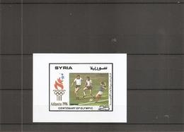 Syrie - JO De Atlanta -1996 ( BF 53 XXX -MNH) - Siria