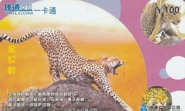 CHINA. FAUNA. Leopard. CRCYB2003(10-10). (0765). - Tarjetas Telefónicas