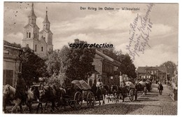 Wilkowiszki, Vilkaviskis, Strasse Mit Kirche, Der Krieg Im Osten, Alte Postkarte 1915 - Litauen