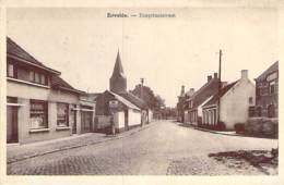 BELGIQUE Belgium ( Flandre Orientale - Evergem ) ERIVELDE Hospitaalstraat ( Café RECTA - Pub MOBILOIL ) CPA 1946 Belgien - Evergem