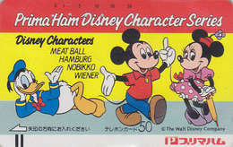 Télécarte Ancienne Japon / 110-22708 - DISNEY - DONALD MICKEY MINNIE - Japan Front Bar Phonecard / B - Balken TK - Disney