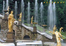 1 AK Russia * Schloss Peterhof Mit Der Großen Kaskade * Seit 1990 Weltkulturerbe Der UNESCO * - Russie