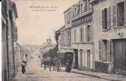 CPA MONTLHERY LA RUE DE LA CHAPELLE - Montlhery