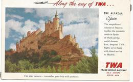 W4236 Segovia - Alcazar - TWA Trans World Airlines / Non Viaggiata - Segovia