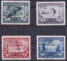 Austria, FIS, 1933, Complete Set, Cancelled, Good Quality - Usati